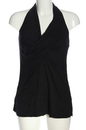 Sisley Top z dekoltem typu halter czarny W stylu casual