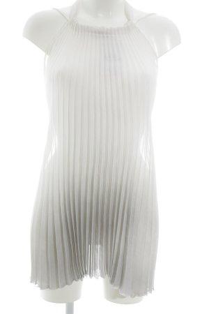 Sisley Top estilo halter blanco puro-gris degradado de color elegante
