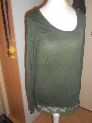Sisley Tuniek groen-grijs Gemengd weefsel