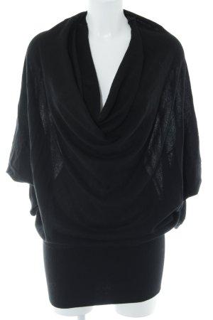 Sisley Pull oversize noir style décontracté