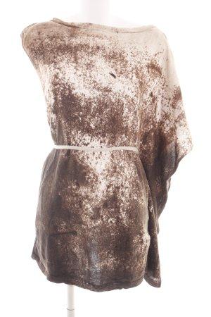 Sisley Oversized Shirt braun-creme abstraktes Muster Casual-Look
