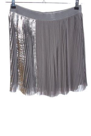 Sisley Gonna pieghettata grigio chiaro-argento effetto bagnato