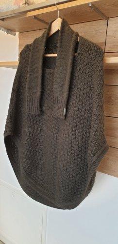 Sisley Poncho in maglia grigio-verde