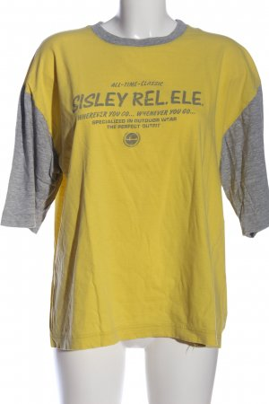 Sisley Print-Shirt hellgrau-blassgelb meliert Casual-Look