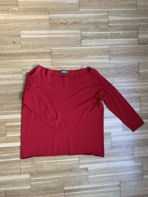Sisley Pull en maille fine rouge fluo-rouge brique