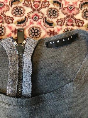 Sisley Pullover XS Damen Grau Silber