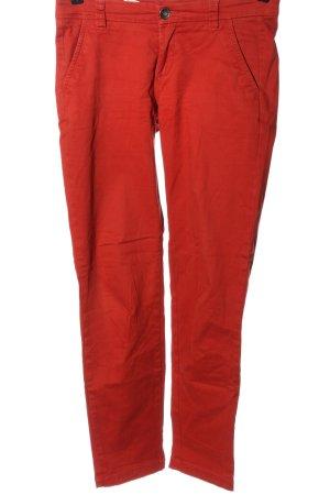 Sisley Drainpipe Trousers red elegant