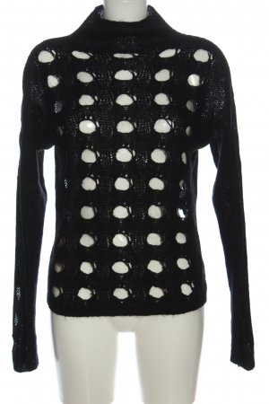 Sisley Maglione dolcevita nero stile casual