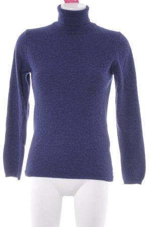Sisley Rollkragenpullover dunkelviolett Casual-Look