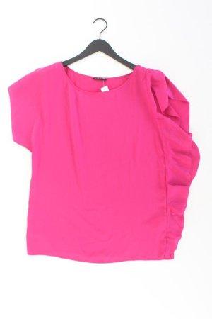 Sisley Rüschenbluse Größe M Kurzarm pink aus Polyester