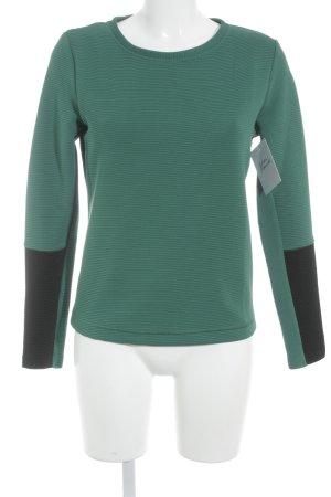 Sisley Rundhalspullover schwarz-grün Casual-Look