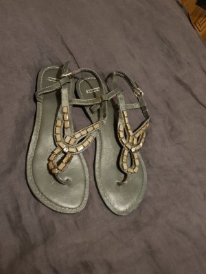 Sisley Flip-Flop Sandals bronze-colored-brown