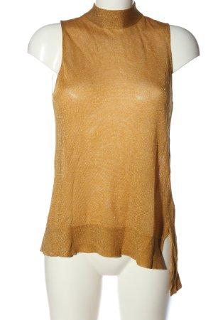 Sisley Blouse à enfiler orange clair-doré Motif de tissage style décontracté