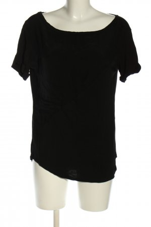 Sisley Schlupf-Bluse schwarz Casual-Look