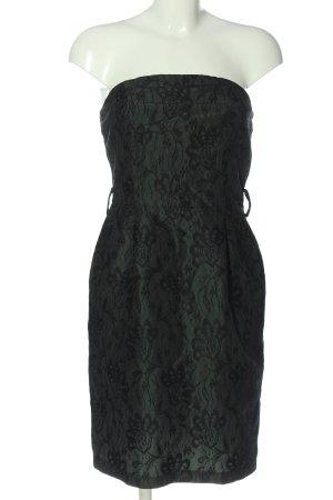 Sisley schulterfreies Kleid schwarz-grün Elegant