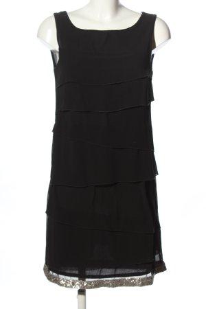 Sisley Chiffonkleid schwarz Casual-Look