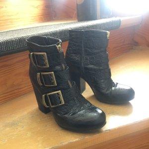 Sisley Schwarze Stiefel in echte Leder  Winter Stiefel
