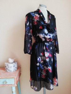 Sisley Seidenkleid Seide Kleid Sommerkleid Gr. M 38 neu Tunikakleid