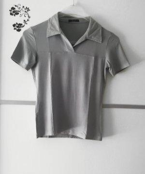 Sisley Shirt mit Kragen Grau Gr. S
