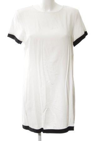 Sisley Shirtkleid weiß-schwarz Casual-Look