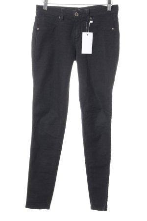 Sisley Skinny Jeans schwarz abstraktes Muster Elegant