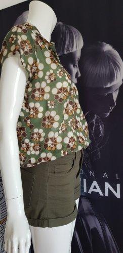 sisley sommerliches blusenshirt small jeans shorts oliv 36 wie neu pucci stil
