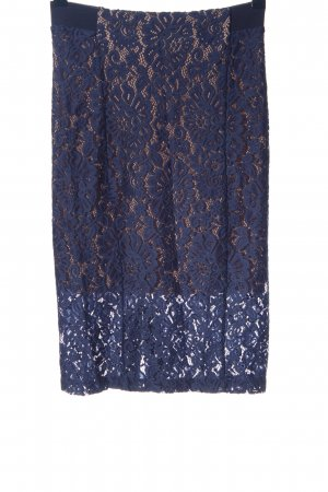 Sisley Lace Skirt blue flower pattern casual look