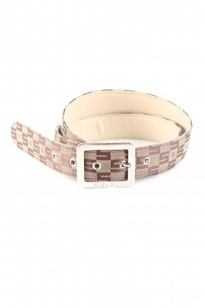 Sisley Fabric Belt red-cream check pattern casual look