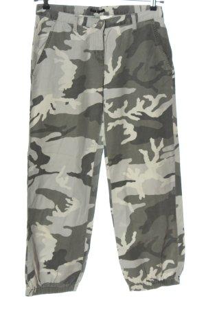 Sisley Jersey Pants light grey-black allover print casual look