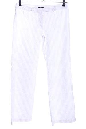 Sisley Stoffhose weiß-hellgrau Streifenmuster Casual-Look