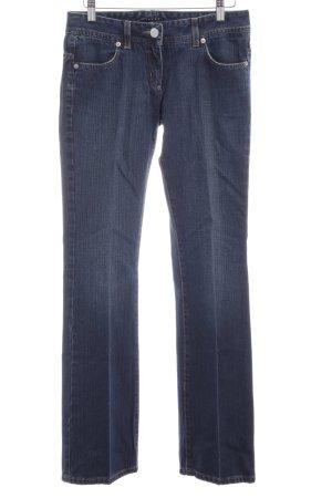 Sisley Straight-Leg Jeans dunkelblau Used-Optik