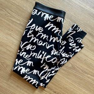 Sisley Pantalone elasticizzato nero-bianco