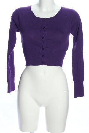 Sisley Cárdigan de punto lila look casual