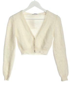 Sisley Bolero lavorato a maglia bianco stile casual