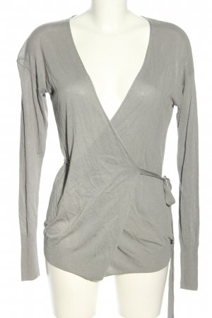 Sisley Strickjacke hellgrau Casual-Look