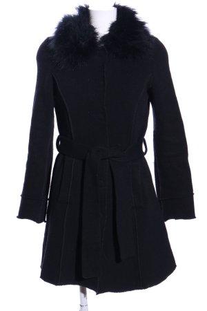 Sisley Cappotto a maglia nero stile professionale