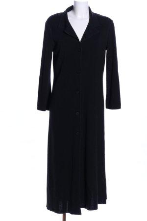 Sisley Cappotto a maglia nero Tessuto misto