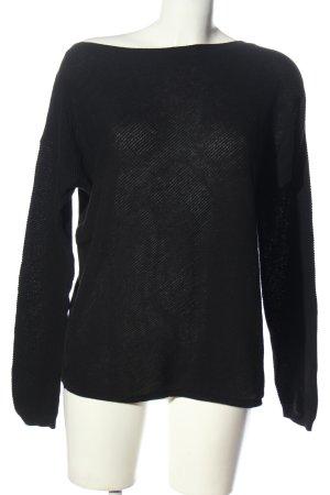 Sisley Strickpullover schwarz Casual-Look