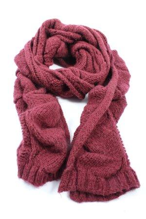 Sisley Sciarpa lavorata a maglia rosa punto treccia stile casual