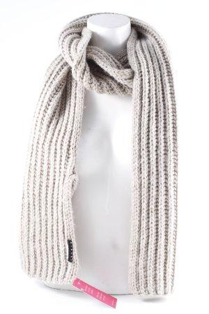 Sisley Écharpe en tricot beige clair-gris brun moucheté style décontracté