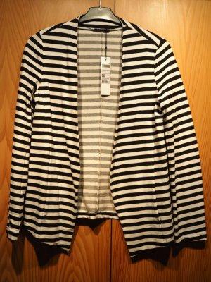 Sisley Sweat Blazer black-white cotton