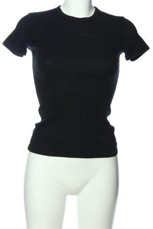 Sisley T-Shirt schwarz Casual-Look
