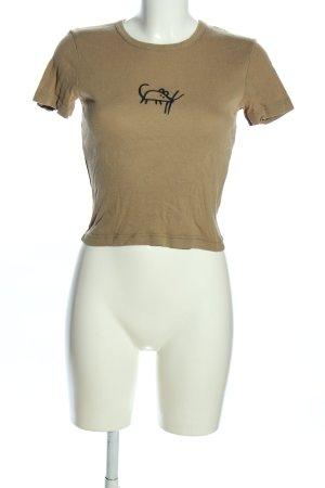 Sisley T-Shirt khaki Motivdruck Casual-Look