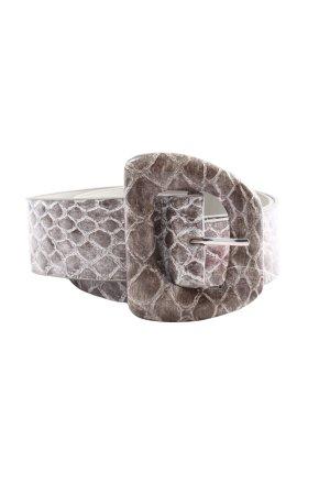 Sisley Waist Belt brown-natural white allover print casual look
