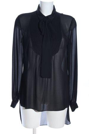 Sisley Transparenz-Bluse schwarz Casual-Look