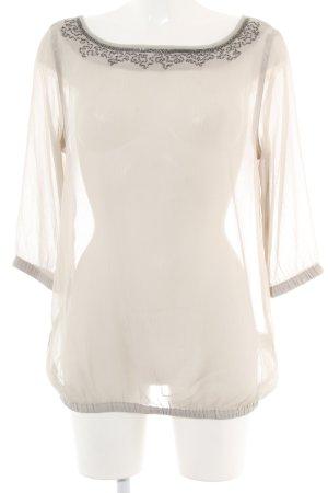 Sisley Transparenz-Bluse nude Casual-Look