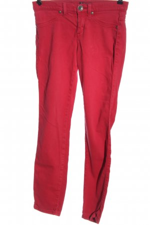 Sisley Treggings rojo look casual