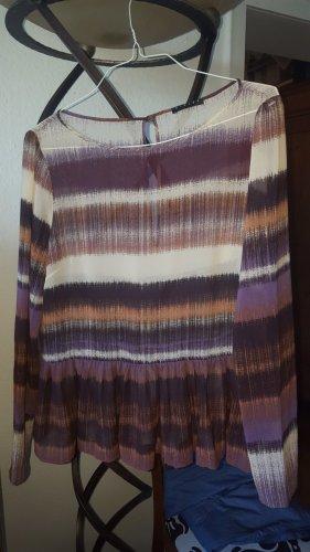 Sisley Tunika Bluse Falten transparent Gr.S 36/38