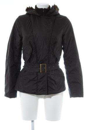 Sisley Übergangsjacke schwarz-schwarzbraun schlichter Stil