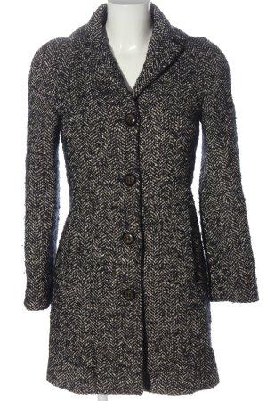 Sisley Cappotto mezza stagione bianco sporco-nero motivo a righe stile casual